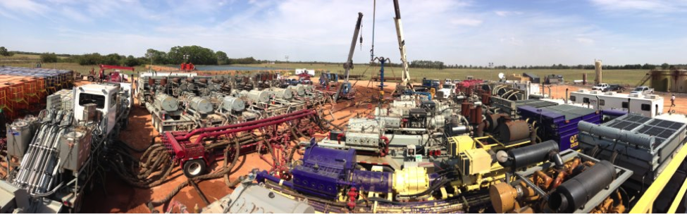 Figure 1 Hydraulic Fracturing Site