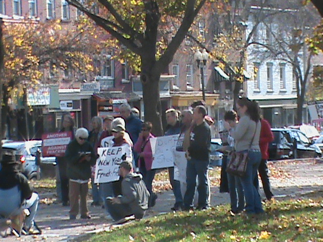 'Global Frackdown' Rally in Albany's Townsend Park – Oct. 19, 2013