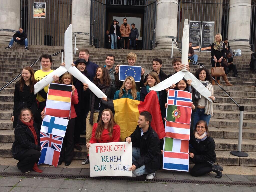 Brussels 'Global Frackdown' rally – Oct. 19, 2013