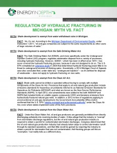 Regulation in Michigan FACT SHEET