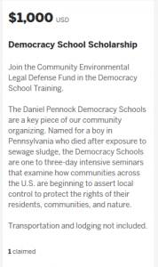 Democracy School Training