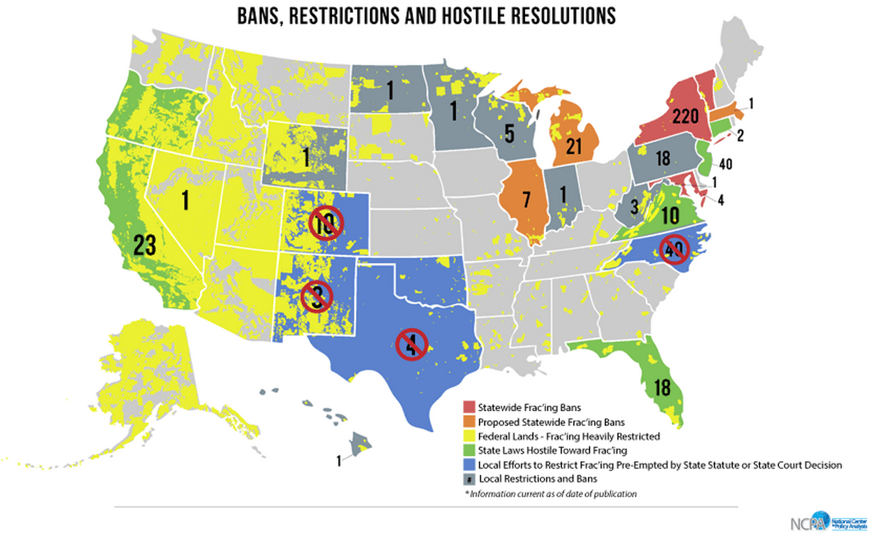 New Project Maps Out The Folly Of Local Fracking Bans - Map of hydraulic fracturing sites us